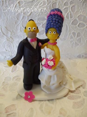 cake topper simpson, cake topper personalizzati, cake topper matrimonio, sopratorta, cake topper milano, cake topper roma, cake topper crotone, cake topper bologna